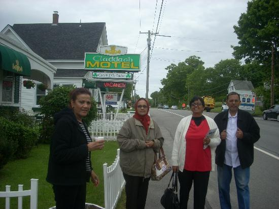 In front of Claddagh Motel & Suites