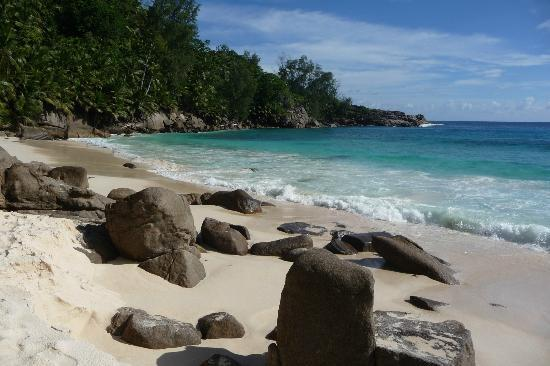 Île de Mahé, Îles Seychelles : Lato sinistro della spiaggia