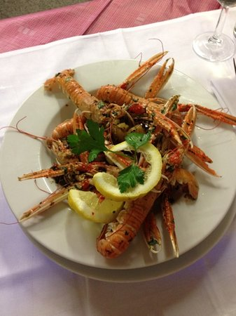 Eilean Dubh Restaurant: Fresh, local langoustine. Sensational!!!