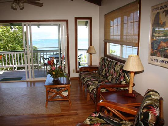 Dunbar Beachfront Cottages: Pauwalu Living Room