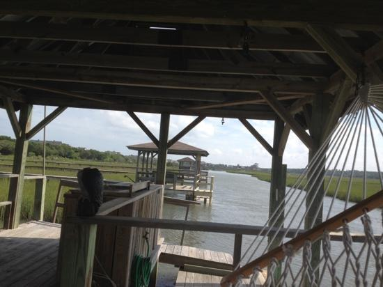 The Pelican Inn: View from the Pelican's crabbing dock