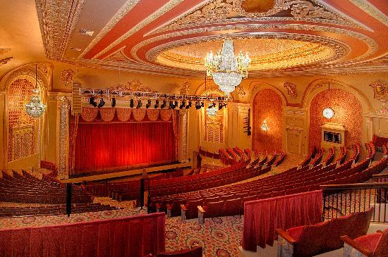 Genesee Theatre: The balcony level is stadium style seating as featured in the contemporary movie theaters.  The