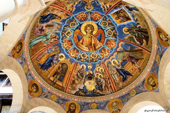 Monastery St. Jovan Bigorski: Frescoes of Jesus Christ, The Son of God, Holly Mary and the Saints, Frescoes of the Baptistry