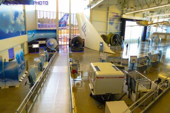 Hilton Garden Inn Seattle North / Everett: View Inside The Neighboring  Future Of Flight Museum