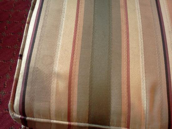 Days Inn & Suites Elyria: Stained ottoman (any place you might sit was stained & gross)