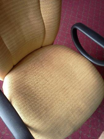 Days Inn & Suites Elyria: Stained office chair-- what went on here??