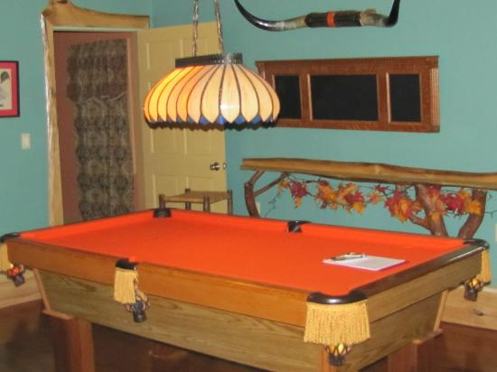 Robinwood Inn: Pool table in the lower level