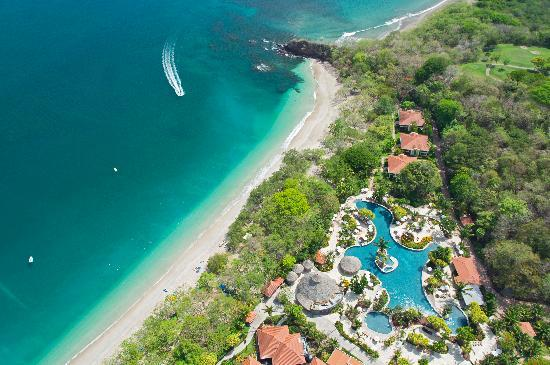 The Westin Golf Resort & Spa, Playa Conchal: Aerial View of the Pool and Beach