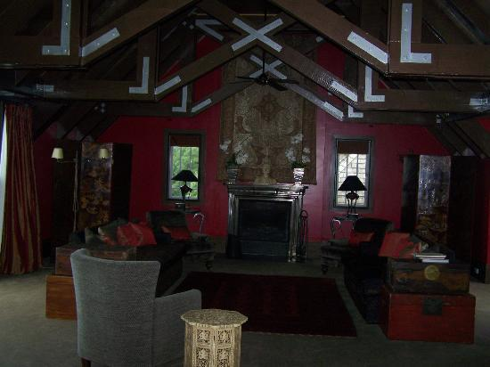 Wharekauhau Country Estate: Red Drawing Room
