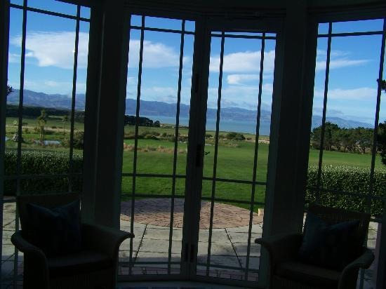 Wharekauhau Country Estate: View to Palliser Bay