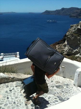 Caldera Villas: Our strong porter!