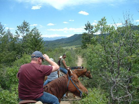 Astraddle A Saddle: Stopping to take in the view