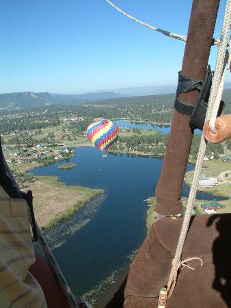 Rocky Mountain Balloon Adventures, LLC.: View of the Oso Grande balloon from The Rose Window