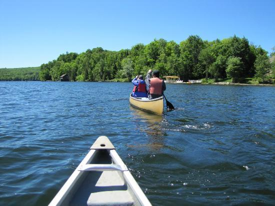 Cedar Grove Lodge: Canoeing around the lake