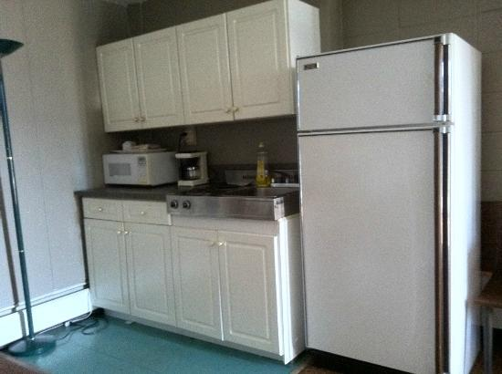 Alpine Lodge Motel : kitchen area