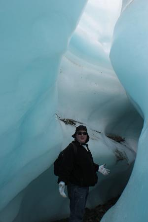 St. Elias Alpine Guides Day Adventures: slot canyon on the ice