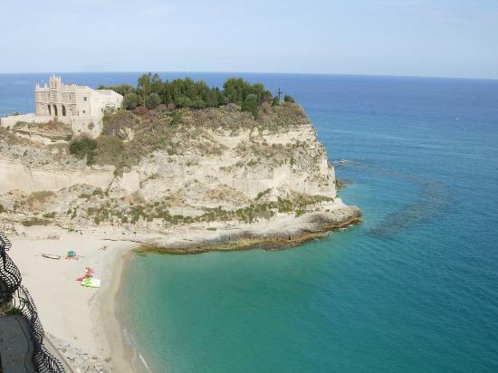 Tropea Beach: vista dalla terrazza di tropea