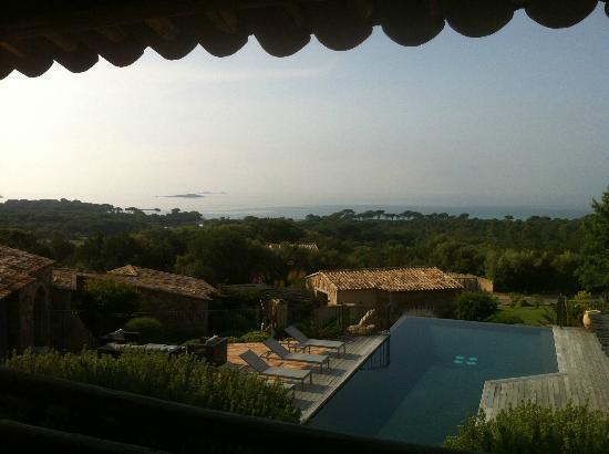 Les Bergeries de Palombaggia : vue de notre chambre