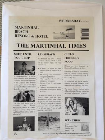Martinhal Sagres Beach Resort & Hotel: Daily Newsletter.
