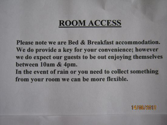 Meadow View : Room Access
