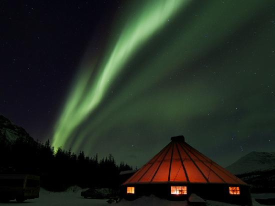 Tromsø, Noorwegen: The Northern Lights at Camp Tamok