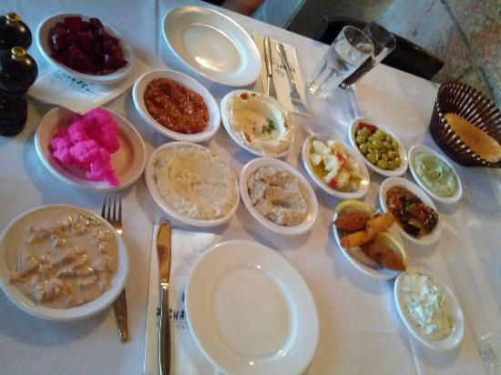 Pasha's Restaurant: Assorted salads to start