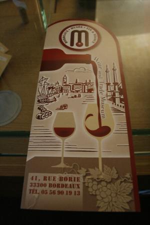 Musée du Vin et du Négoce : Leaflet