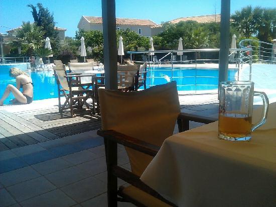 Avithos Resort: Relaxing in the pool bar...
