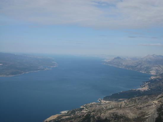 Biokovo Mountain: view to Split