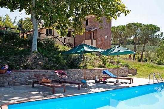 Podere Borgaruccio: Vista Casale da piscina