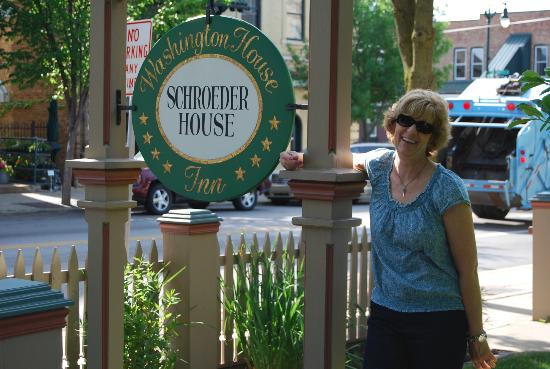 Washington House Inn: Out in front of the Schroeder House