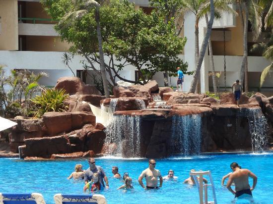 El Cid Castilla Beach Hotel Pool Waterfalls