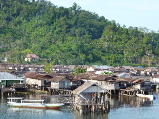 Black Marlin Dive Resort: Wakai - the main village in the Togean Islands. Be sure to stock up in Gorontalo!