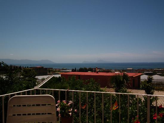 I Papiri: View from the communal balcony.