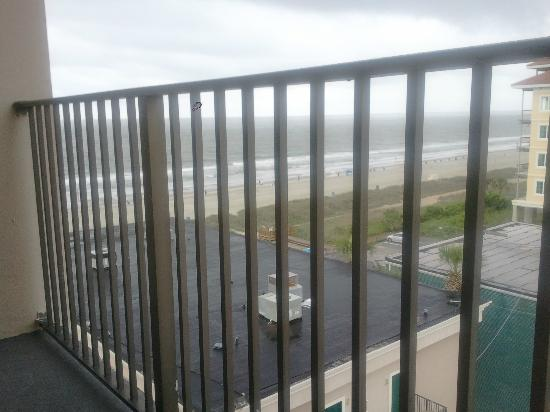 Econo Lodge Inn & Suites Beach: view from balcony sitting in chairs...