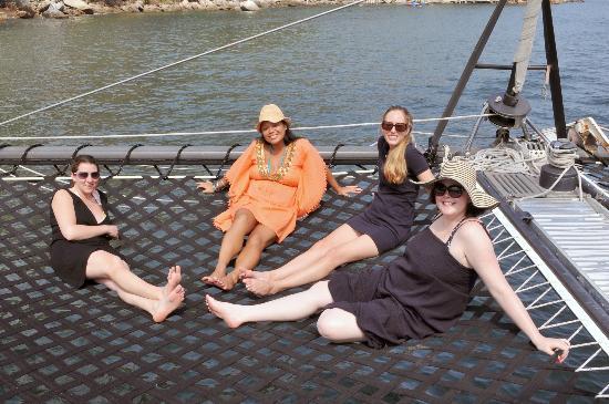 Humu Humu Day Charters: the girls lounging