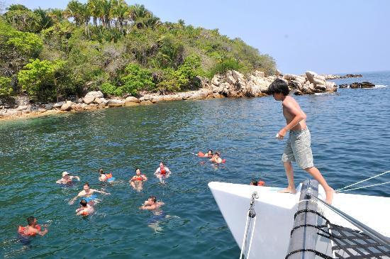 Humu Humu Day Charters: snorkeling stop