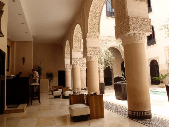 Riad Fes - Relais & Chateaux : One of the Moroccan Modern courtyards