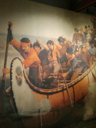 Lachine Fur Trade Museum: Big painting