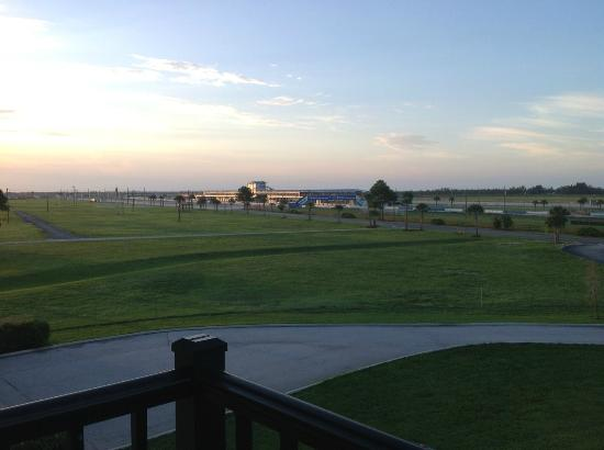 Chateau Elan Hotel & Conference Center: View of Sebring Track from New Room Balcony