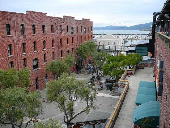 The Cannery: the inner courtyard looking out to the bay