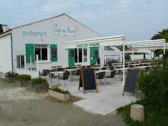 Le Cafe du Phare : Terrasse