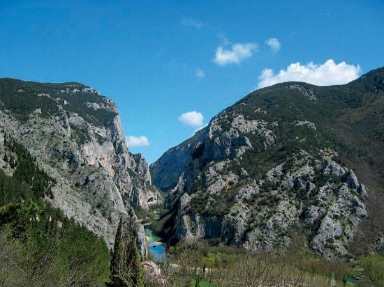 Province of Pesaro and Urbino, Itália: Vecchia Flaminia. Gola-Passo-Canyon del Furlo