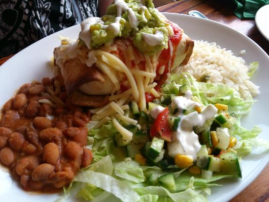 The Wellsprings Inn Pendle Hill: chimichanga (deep fried burrito) main meal