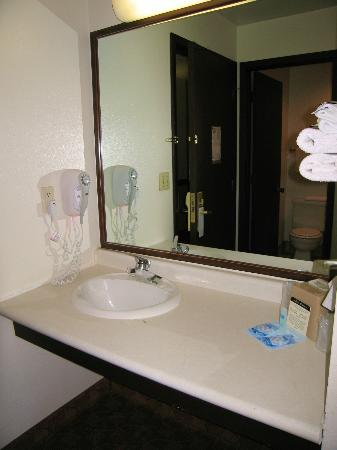 Rodeway Inn & Suites Madison-Northeast: Room 207 Counter with sink WAY back