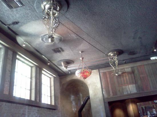 School House Restaurant and Tavern: Tavern-old pulley ceiling fans