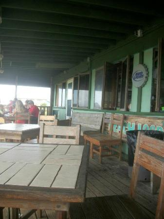 The Beach Lodge: We spent a lot of time here relaxing in the cool breeze, watching the waves.