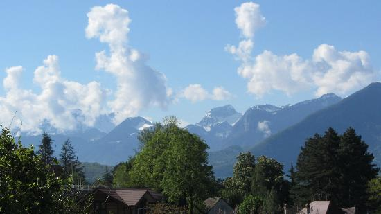 Les Terrasses du Lac: View from our room 