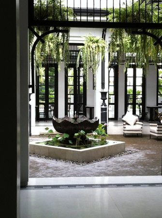 The Siam:                   gorgeous courtyard next to the reception fully completed and really nice