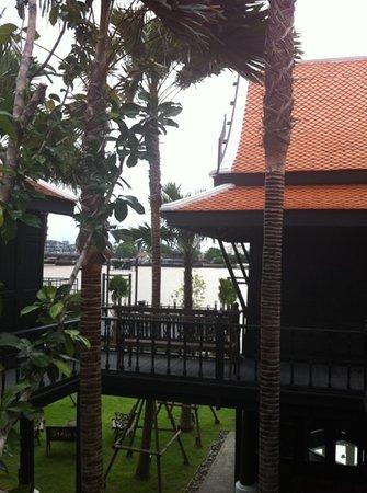 The Siam:                   Thai house restaurant facing the river